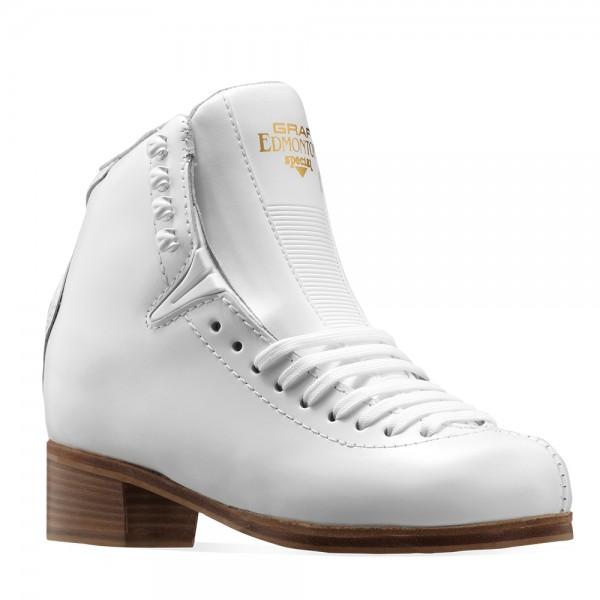 Graf Edmonton Special V-Insert White Leather Eiskunstlauf Schlittschuh