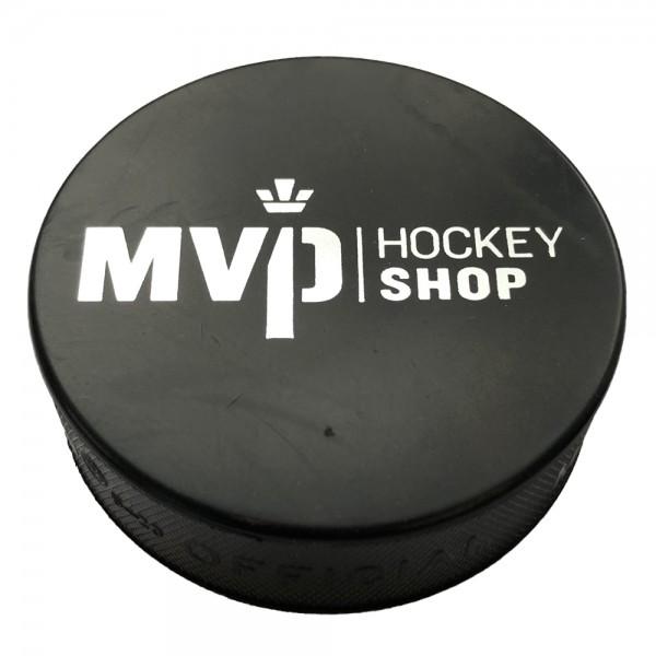"""Eishockey Puck Senior """"MVP Hockey Shop"""" Druck Siber einseitig"""