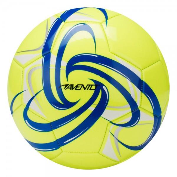 Fussball hochglänzend Flourgelb/Navy