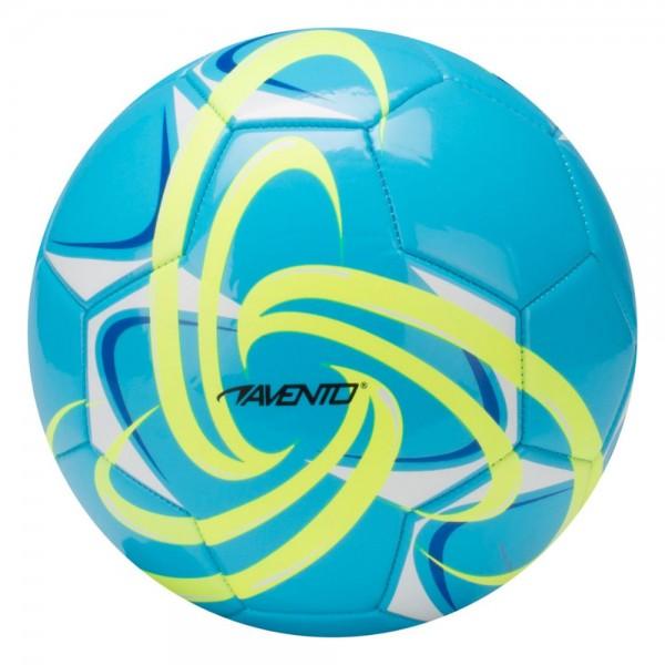 Fussball hochglänzend Azurblau/Gelb